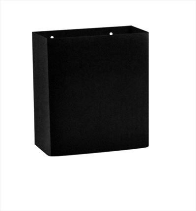 Papelera de barra 9 L metal color negro