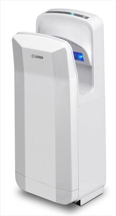 Secamanos vertical 2050 W ABS color Blanco